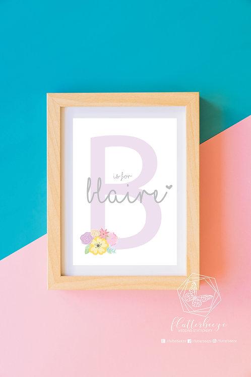 Nursery Alphabet Print