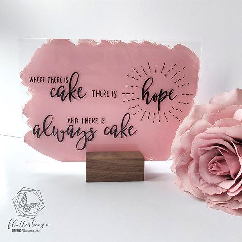 Cake Sign