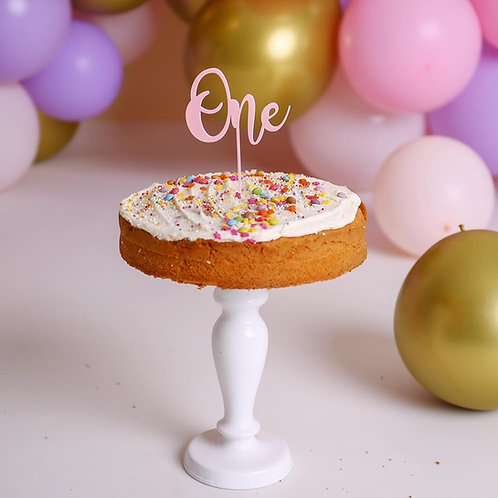 One - Pastel Cake topper