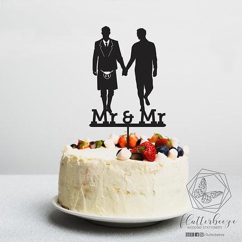 Groom & Groom Wedding Figure Topper