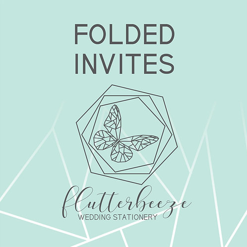 Folded card Invites