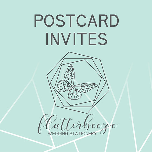 Postcard Invites