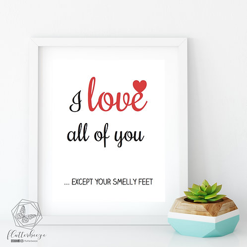 Smelly Feet Print