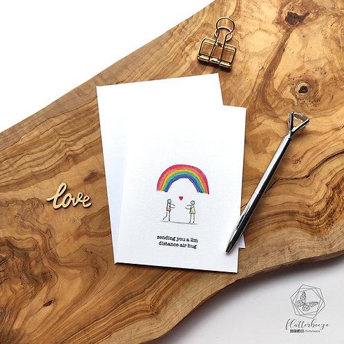 Rainbow hug card