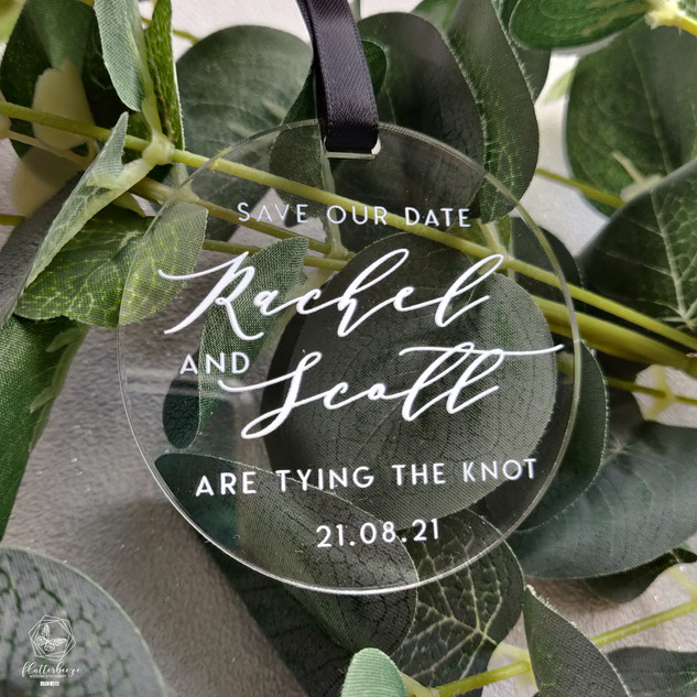 Acrylic save the date