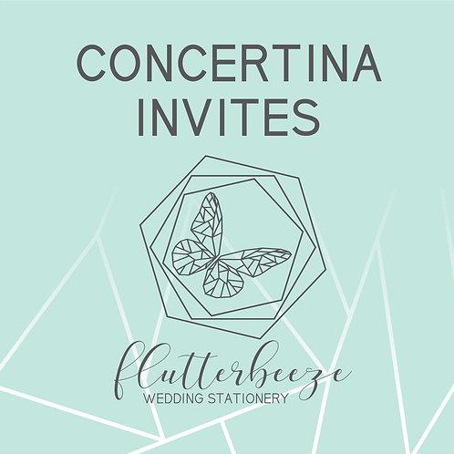 Concertina Invites