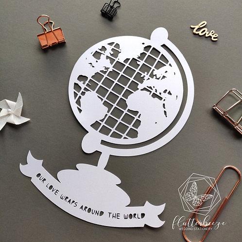 Globe Papercut