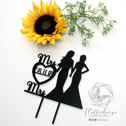 Bride & Bride Wedding Figure Topper