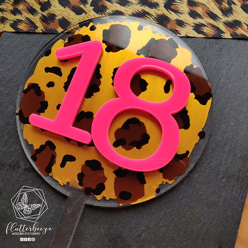 Leopard Circle topper - with age