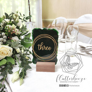 A6 Table Number