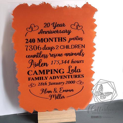 Acrylic Anniversary Sign
