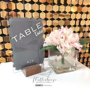 A5 Table Number