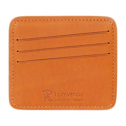 porte-cartes en cuir brun
