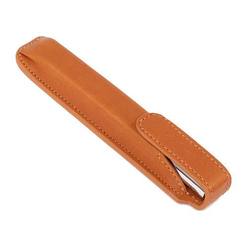 étui à stylo brun marron