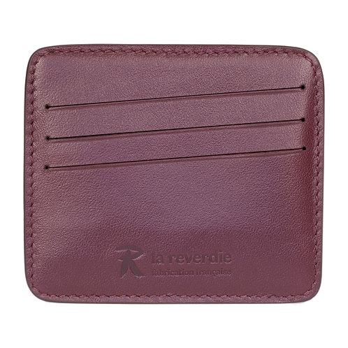 porte-cartes en cuir violet