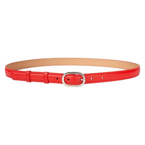 ceinture en cuir rouge