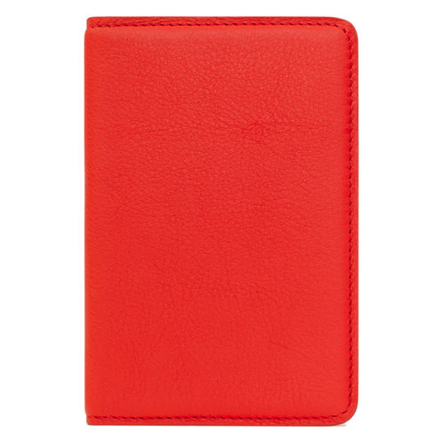 portefeuille en cuir rouge