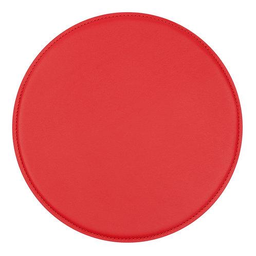 tapis de souris en cuir rouge