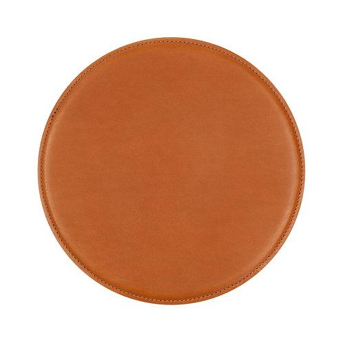 tapis de souris en cuir brun marron