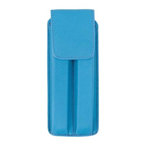 étui à stylo bleu