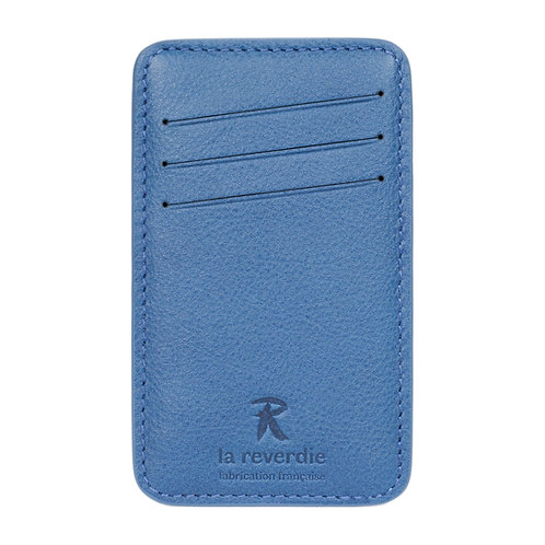 porte-cartes en cuir bleu