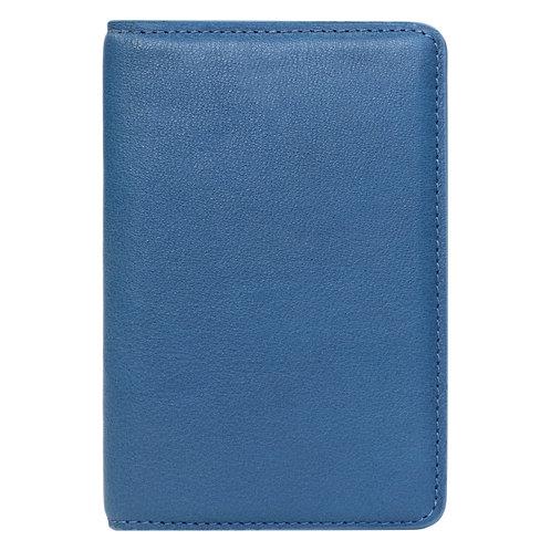 portefeuille en cuir bleu