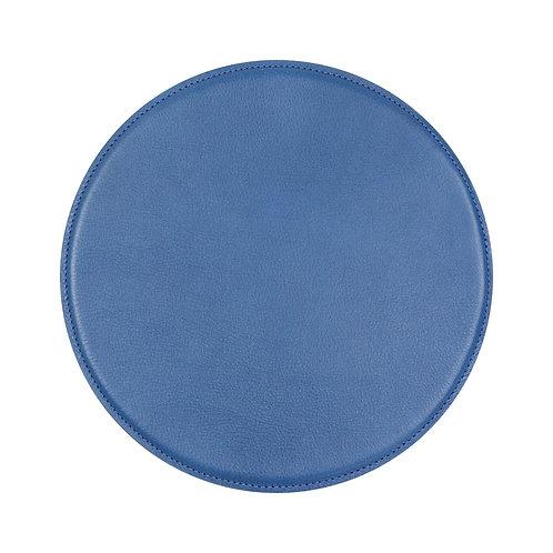 tapis de souris en cuir bleu