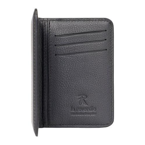 portefeuille en cuir noir made in france