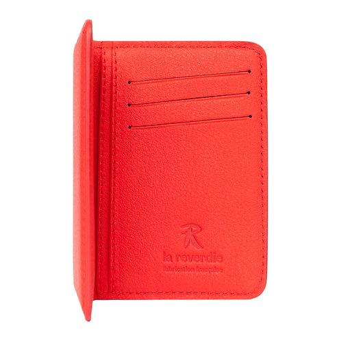 portefeuille en cuir rouge made in france
