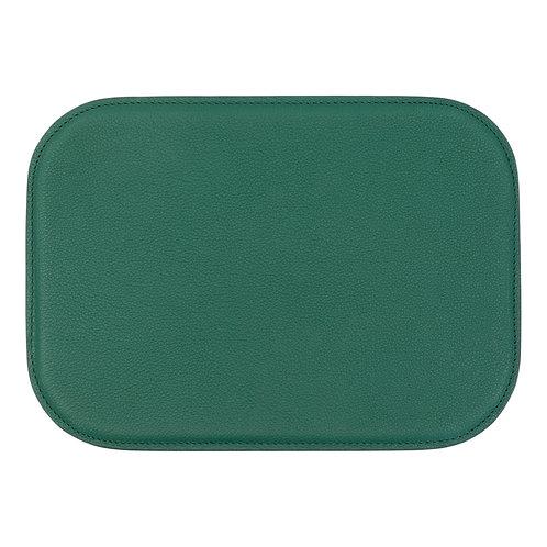 tapis de souris en cuir vert