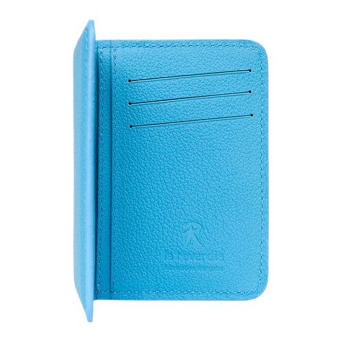 portefeuille en cuir bleu made in france