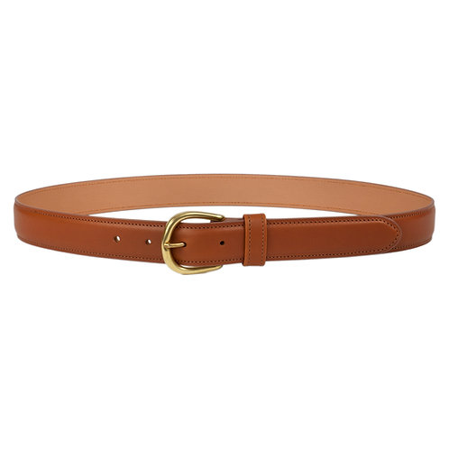 ceinture en cuir brun marron made in france