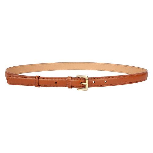 ceinture en cuir brun marron