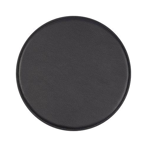 tapis de souris en cuir noir
