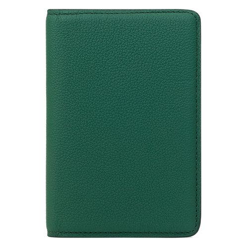 portefeuille en cuir vert