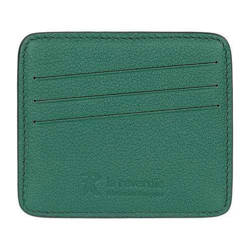 porte-cartes en cuir vert