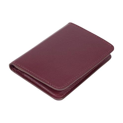 portefeuille en cuir violet made in france