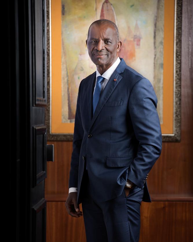 Portrait PDG groupe NSIA Jean DIAGOU