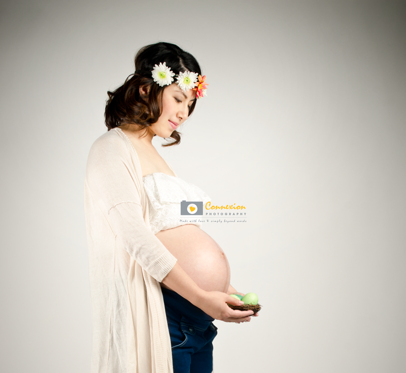 Femme enceinte bol sous ventre