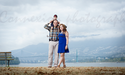 Famille blanc dans un parc