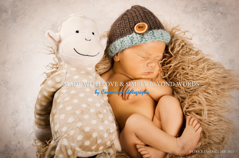 newborn basket knitted hat teddy bear