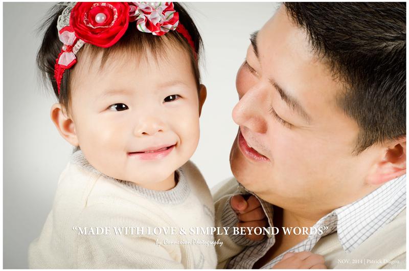 Papa asiatique et enfant dans bras