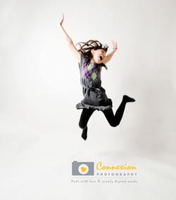 photo asian child girl jumping