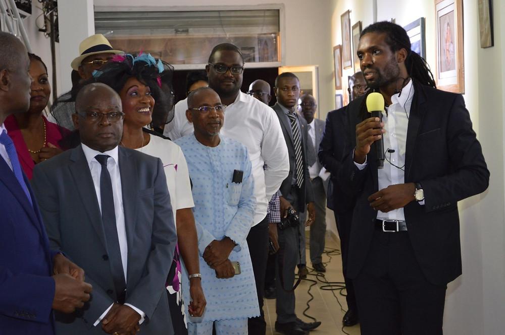Discours du DG du studio photo Connexion Photography Abidjan