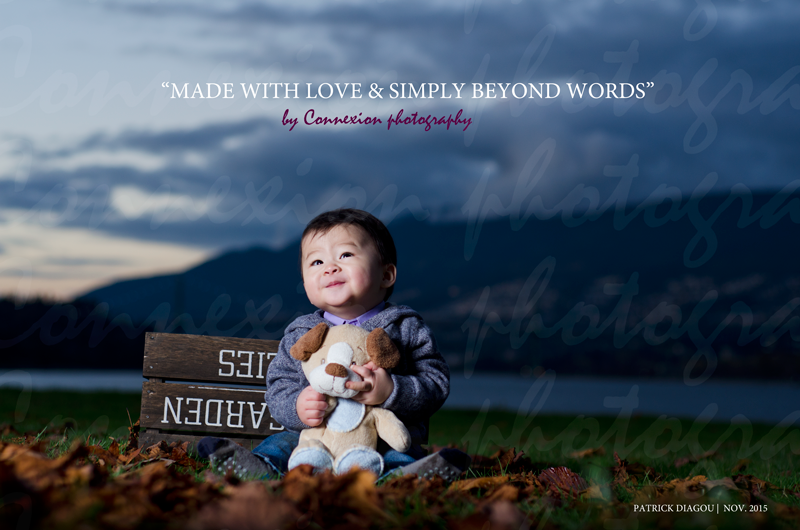 Smiling 10 month old baby Stanley Park Vancouver