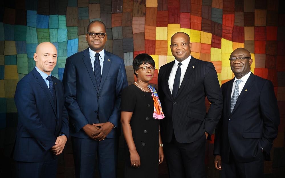 Photo de famille des directeurs généraux de DIAMOND BANK Afrique de l'ouest