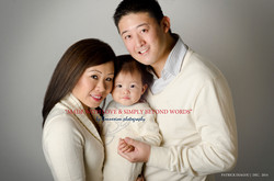 Famille asiatique maman bébé papa