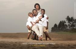 Famille noire arficaine à la plage