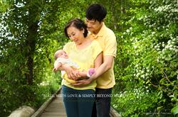Famille chinois bébé bras mère