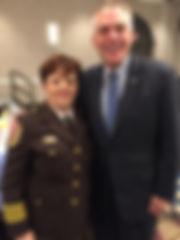 Governor McAuliff & Sheriff at OAR Break